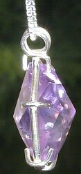 Flower of LIfe Amethyst Pendant