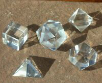 Crystal Platonic Solid Set from Celestial Lights (800)498-7182